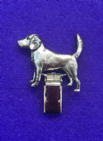 Dog Show Breed Ring Number Clip - Beagle - FULL BODY Silver or Gold Style